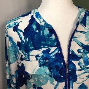 Calvin Klein | Blue White High Low Hem Tunic Top